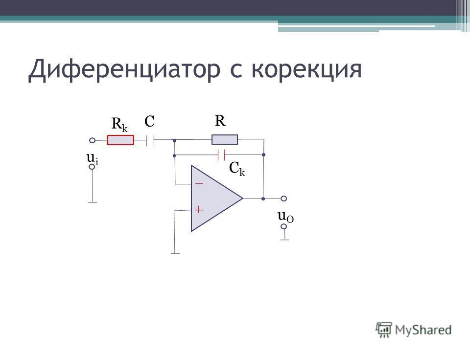 Диференциатор с корекция uOuO R C uiui CkCk RkRk