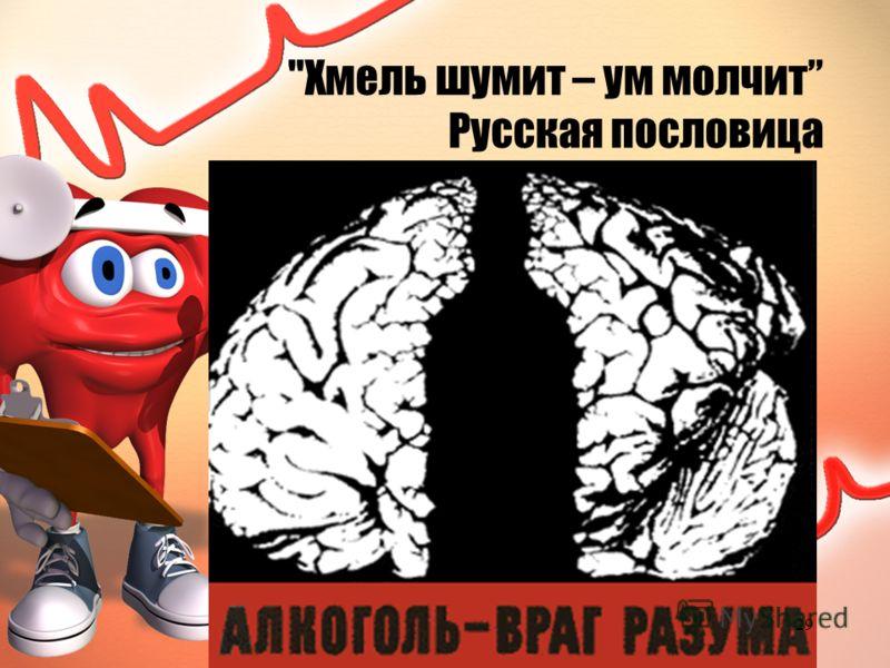 Хмель шумит – ум молчит Русская пословица 29