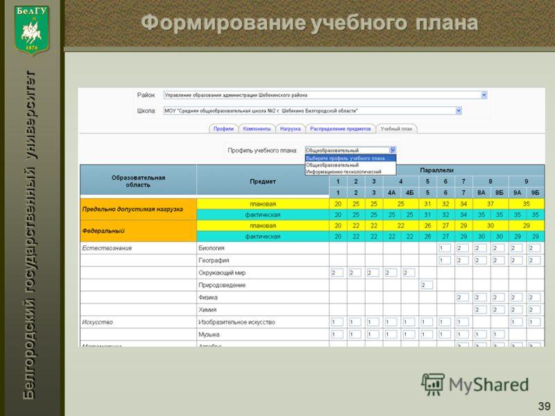 Белгородский государственный университет 39