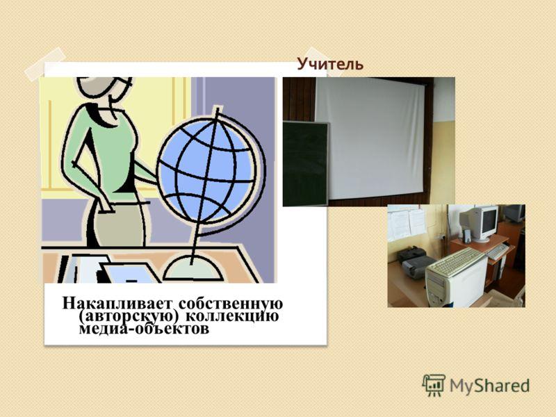 Учитель Накапливает собственную (авторскую) коллекцию медиа-объектов