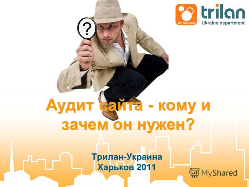 Аудит сайта - кому и зачем он нужен? Трилан-Украина Харьков 2011