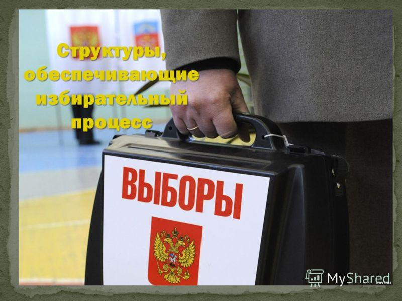 Структуры, обеспечивающие избирательный процесс