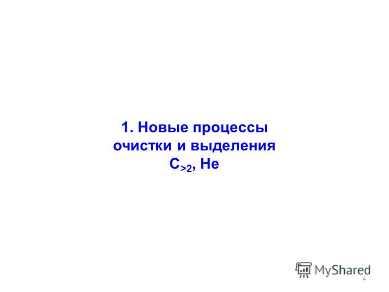 4 1. Новые процессы очистки и выделения С >2, He
