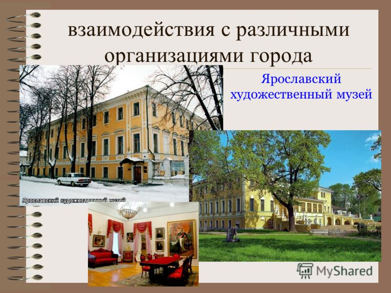 взаимодействия с различными организациями города Ярославский художественный музей