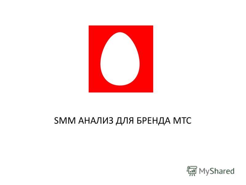 SMM АНАЛИЗ ДЛЯ БРЕНДА МТС