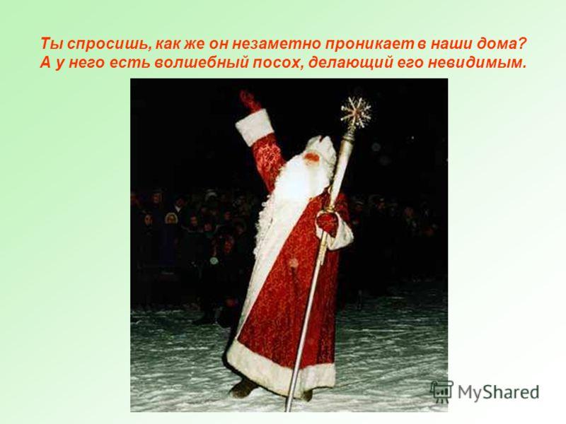 Правда, мы не всегда видим Деда Мороза. Иногда он просто оставляет свои подарки под елкой.