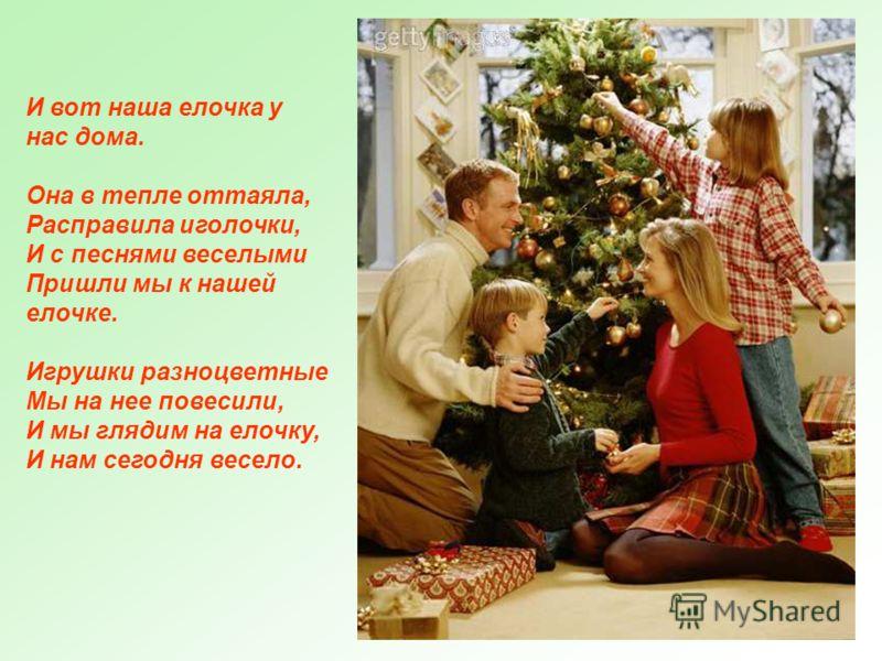 Перед самым Новым годом, в конце декабря, мы забираем елочку из леса, чтобы она смогла украсить наш дом на праздник.