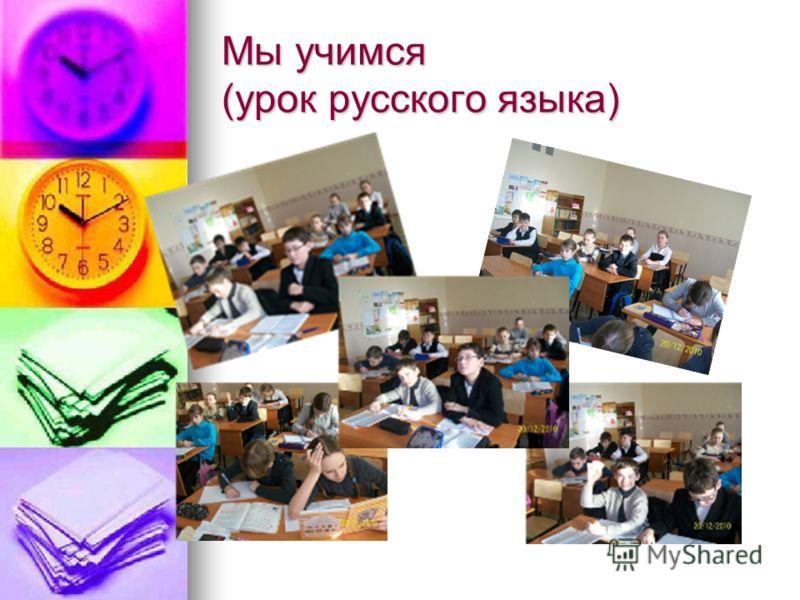 Мы учимся (урок русского языка)