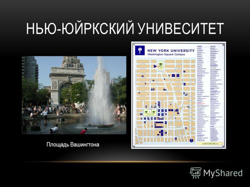 НЬЮ-ЮЙРКСКИЙ УНИВЕСИТЕТ Площадь Вашингтона