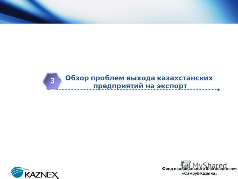 www.themegallery.com Company Logo Обзор проблем выхода казахстанских предприятий на экспорт 3 Фонд национального благосостояния «Самрук-Казына»
