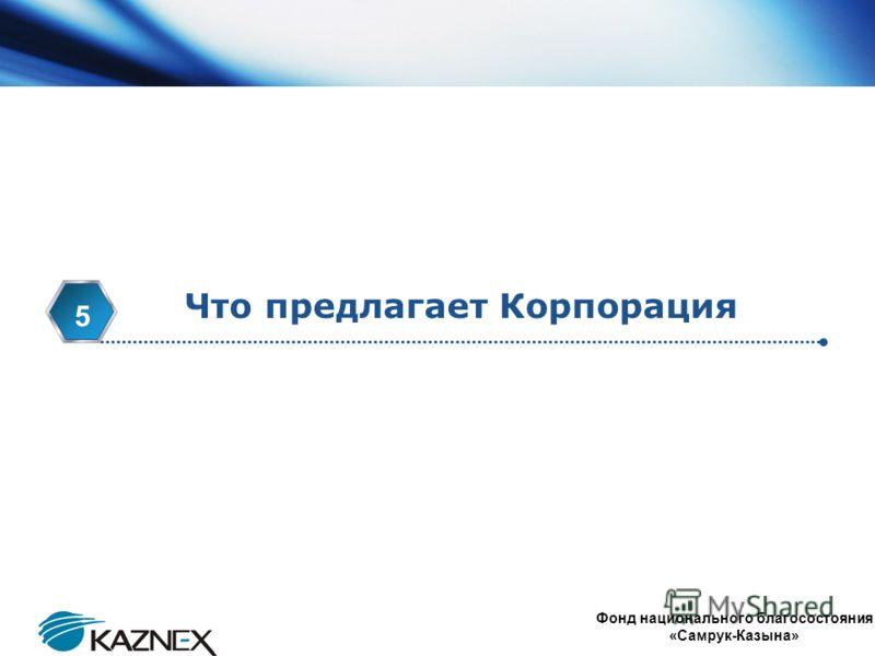 www.themegallery.com Company Logo 4 Что предлагает Корпорация 5 Фонд национального благосостояния «Самрук-Казына»
