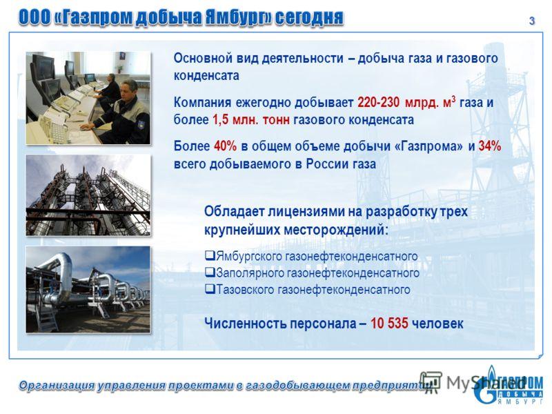 3 Основной вид деятельности – добыча газа и газового конденсата Компания ежегодно добывает 220-230 млрд. м 3 газа и более 1,5 млн. тонн газового конденсата Более 40% в общем объеме добычи «Газпрома» и 34% всего добываемого в России газа Обладает лице
