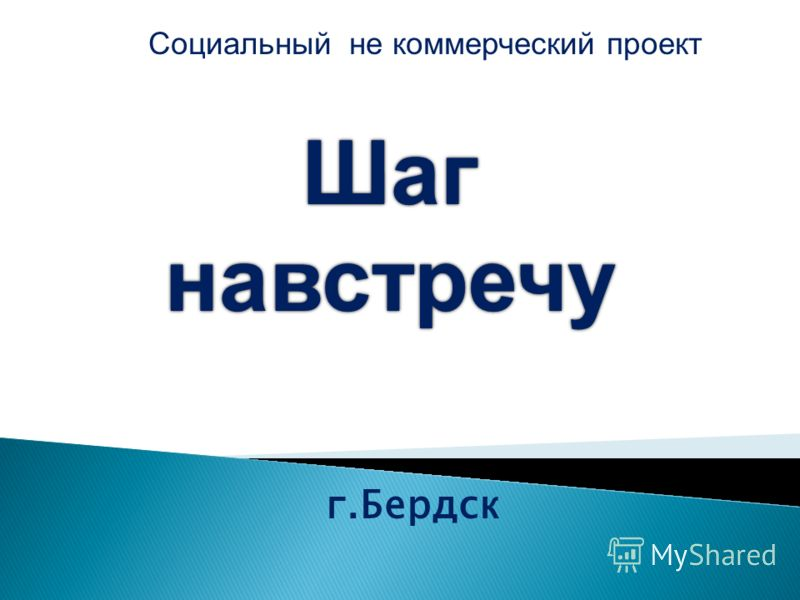 г.Бердск Шагнавстречу Социальный не коммерческий проект
