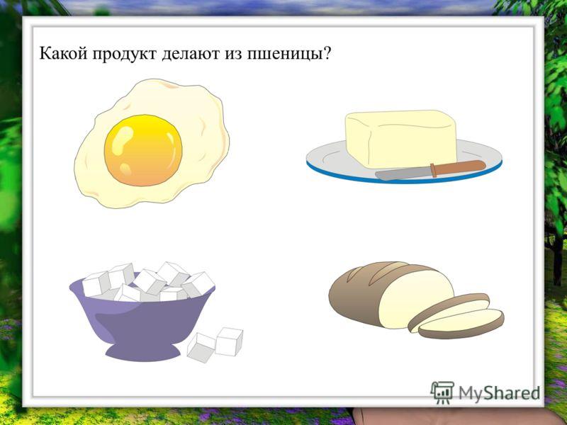 Какой продукт делают из пшеницы?