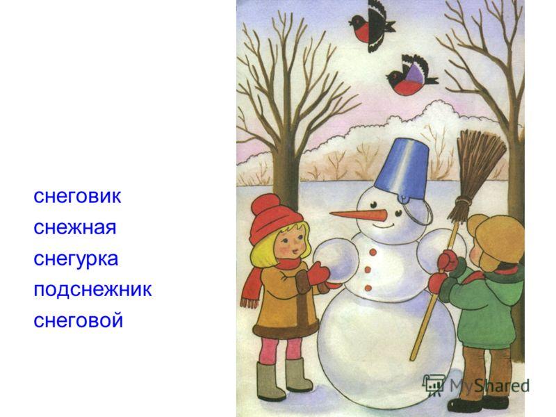 снеговик снежная снегурка подснежник снеговой