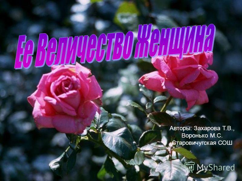 Авторы: Захарова Т.В., Воронько М.С. Старовичугская СОШ