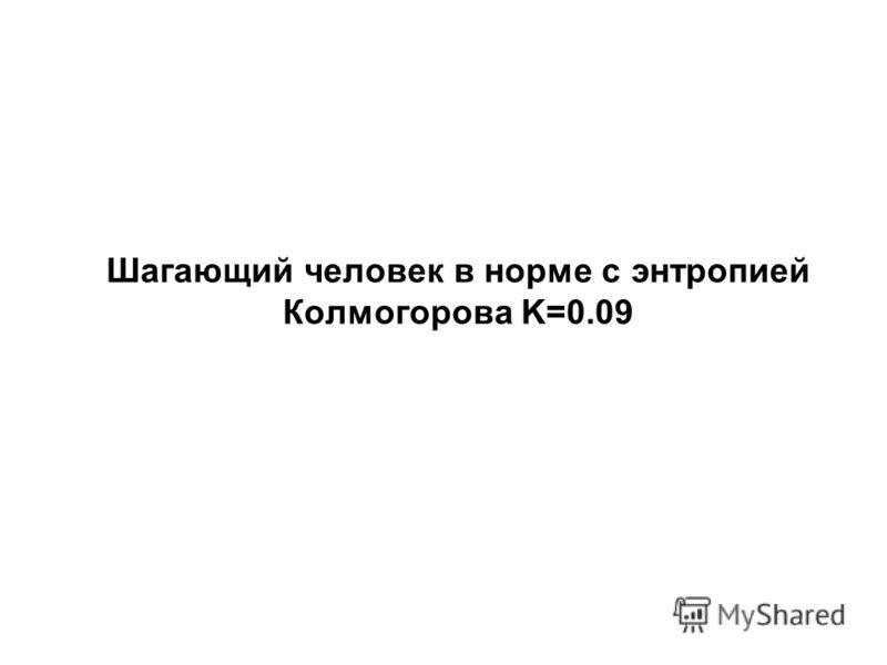 Шагающий человек в норме с энтропией Колмогорова K=0.09