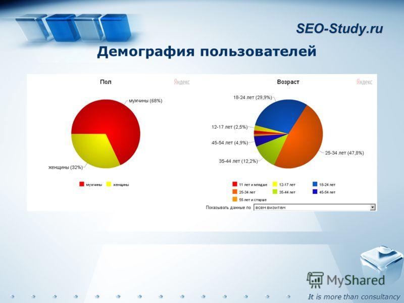 It is more than consultancy SEO-Study.ru Демография пользователей