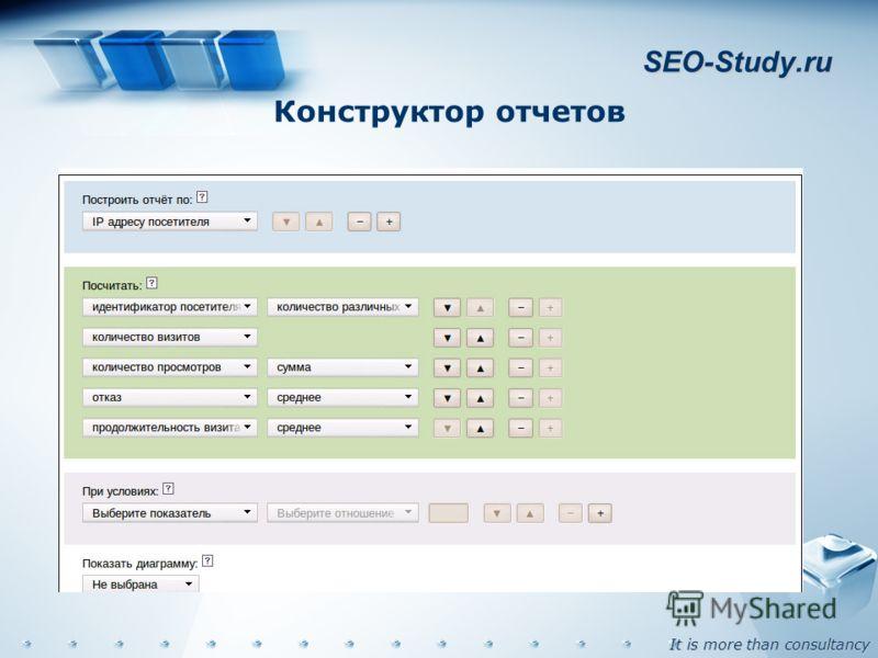 It is more than consultancy SEO-Study.ru Конструктор отчетов