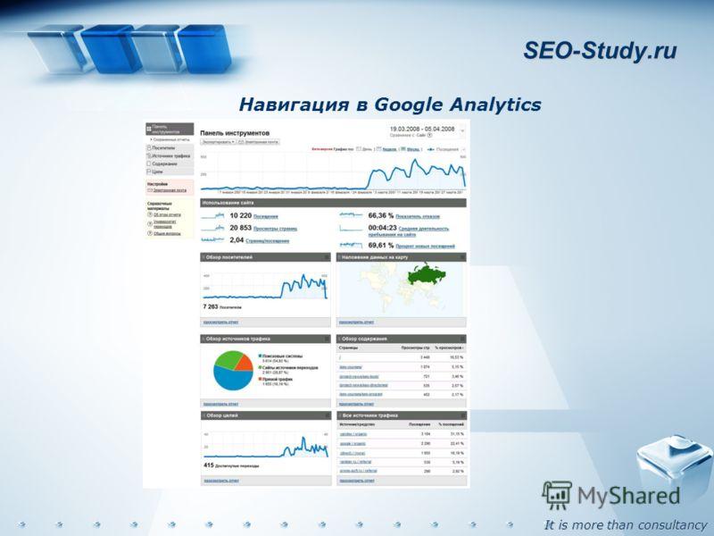 It is more than consultancy SEO-Study.ru Навигация в Google Analytics