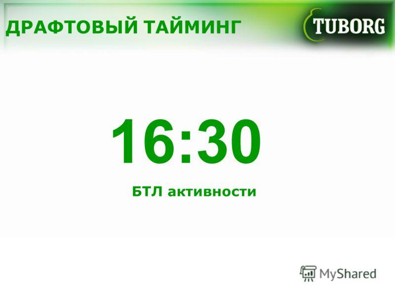 ДРАФТОВЫЙ ТАЙМИНГ 16:30 БТЛ активности