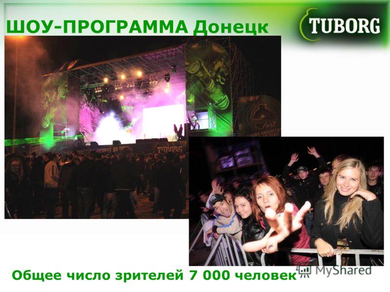 ШОУ-ПРОГРАММА Донецк Общее число зрителей 7 000 человек