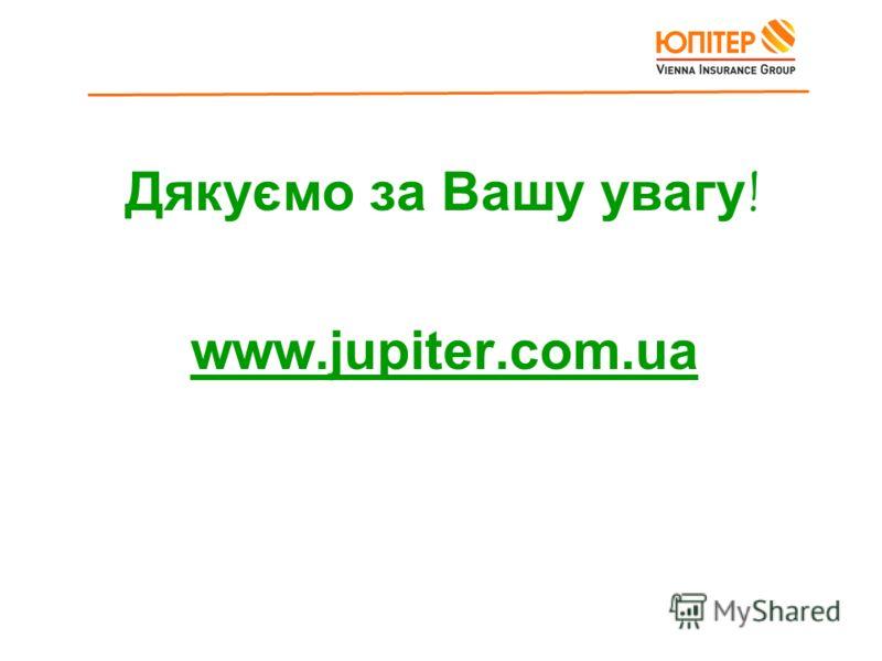 Дякуємо за Вашу увагу! www.jupiter.com.ua