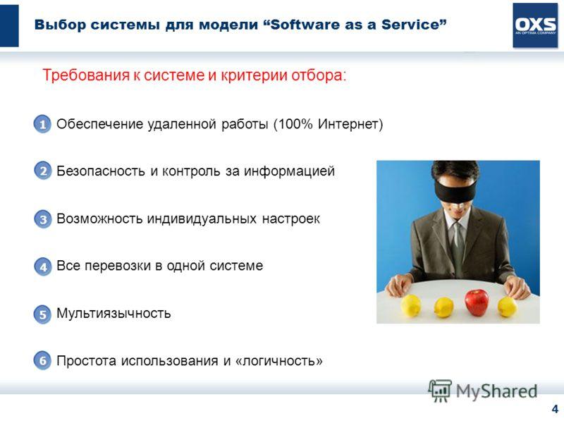 ЛОГО КЛИЕНТА Все права защищены. OXS, 2007 4 Выбор системы для модели Software as a Service Требования к системе и критерии отбора: Обеспечение удаленной работы (100% Интернет) Безопасность и контроль за информацией Возможность индивидуальных настрое