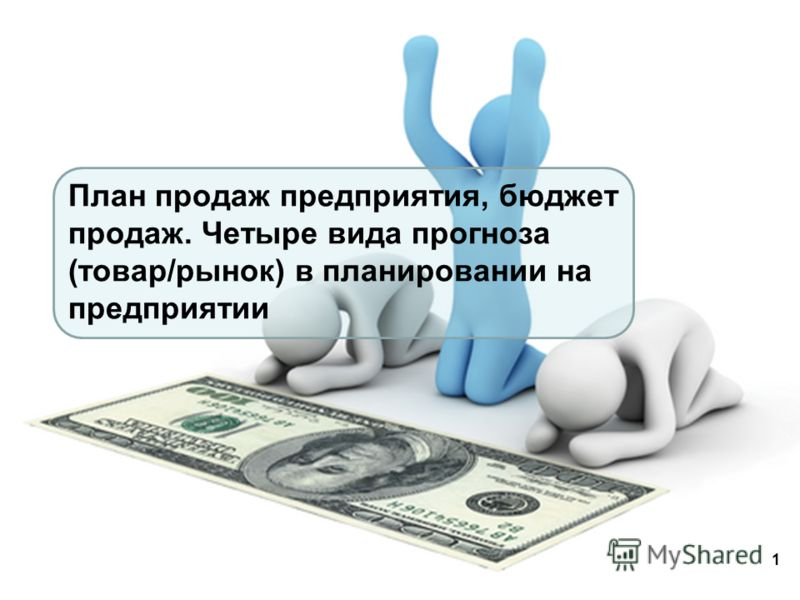 План продаж предприятия, бюджет продаж. Четыре вида прогноза (товар/рынок) в планировании на предприятии 1