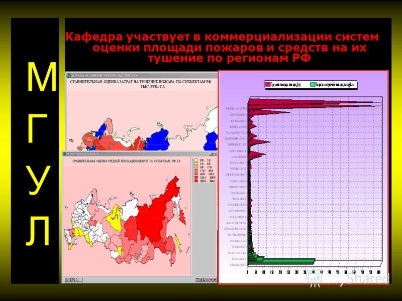 Кафедра участвует в коммерциализации систем оценки площади пожаров и средств на их тушение по регионам РФ