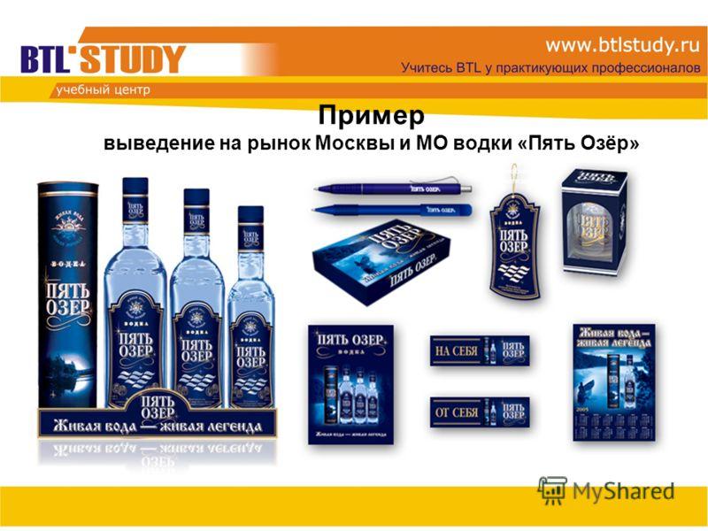 Пример выведение на рынок Москвы и МО водки «Пять Озёр»