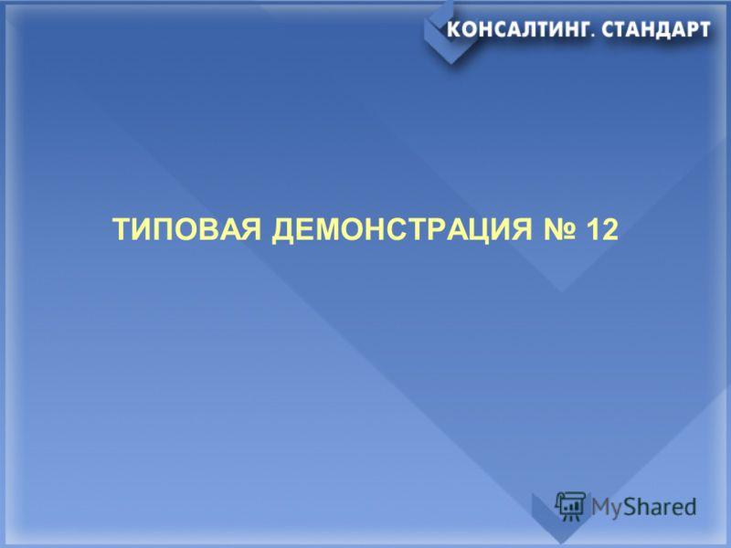 ТИПОВАЯ ДЕМОНСТРАЦИЯ 12