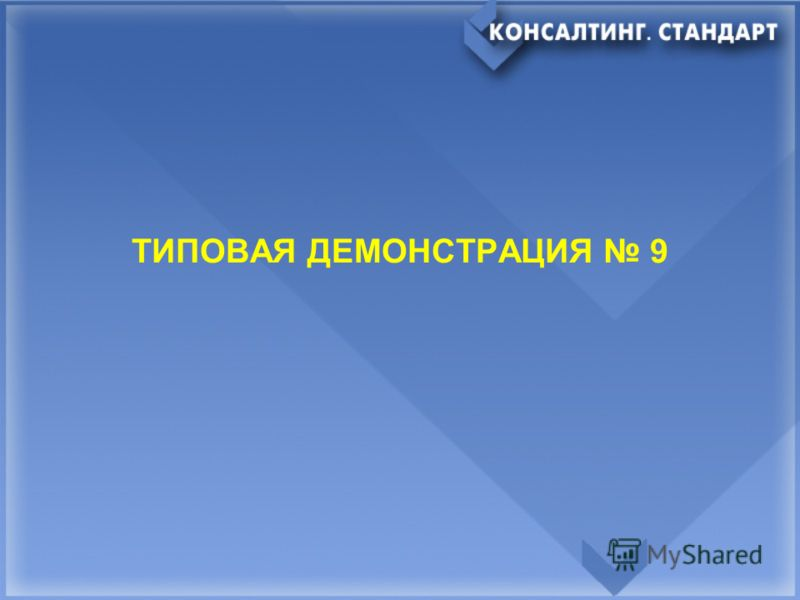 ТИПОВАЯ ДЕМОНСТРАЦИЯ 9