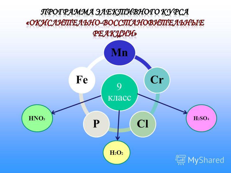 9 класс MnCrClPFe HNO 3 H2O2H2O2 H 2 SO 4