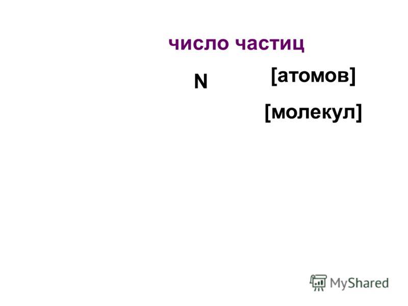 N [атомов] [молекул]