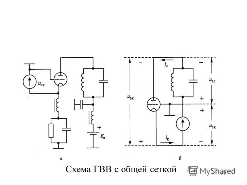39 Схема ГВВ с общей сеткой