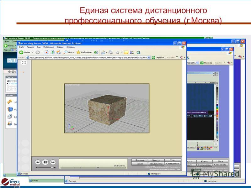 Единая система дистанционного профессионального обучения (г.Москва)