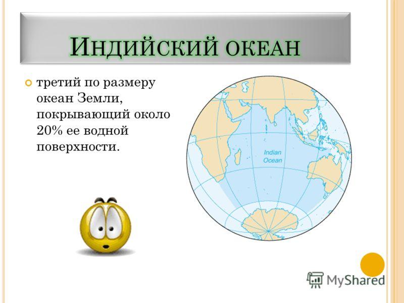 третий по размеру океан Земли, покрывающий около 20% ее водной поверхности.