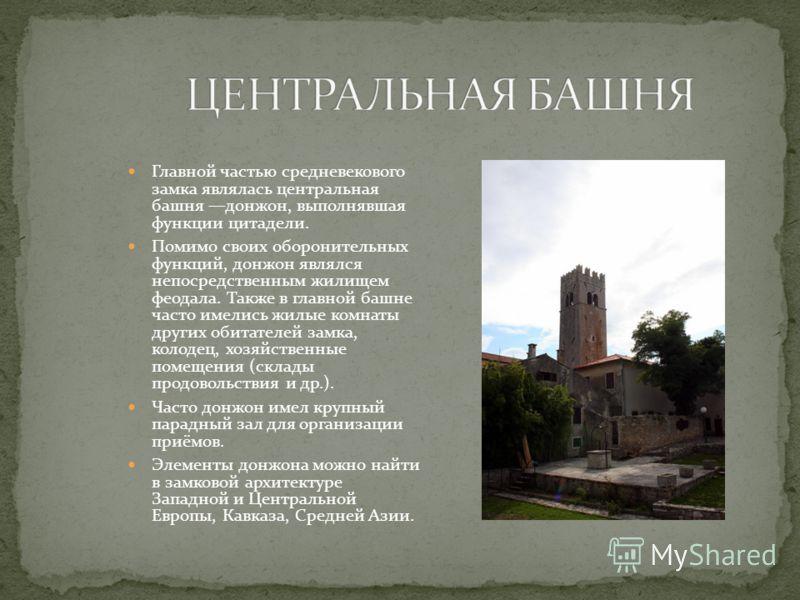 Ранние европейские замки строились преимущественно из дерева. Они опоясывались деревянной оградой палисадом. Уже тогда вокруг замков стали появляться рвы. Примером такого замка может служить Вышгородский замок киевских князей. Каменное замковое строи