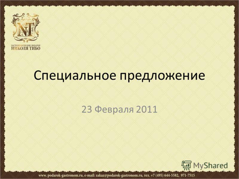 Специальное предложение 23 Февраля 2011 1