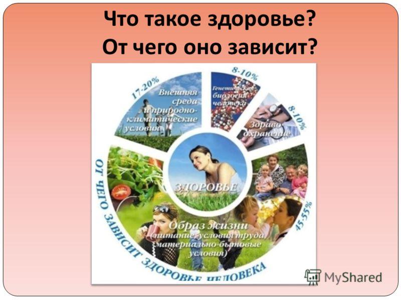 Что такое здоровье ? От чего оно зависит ?