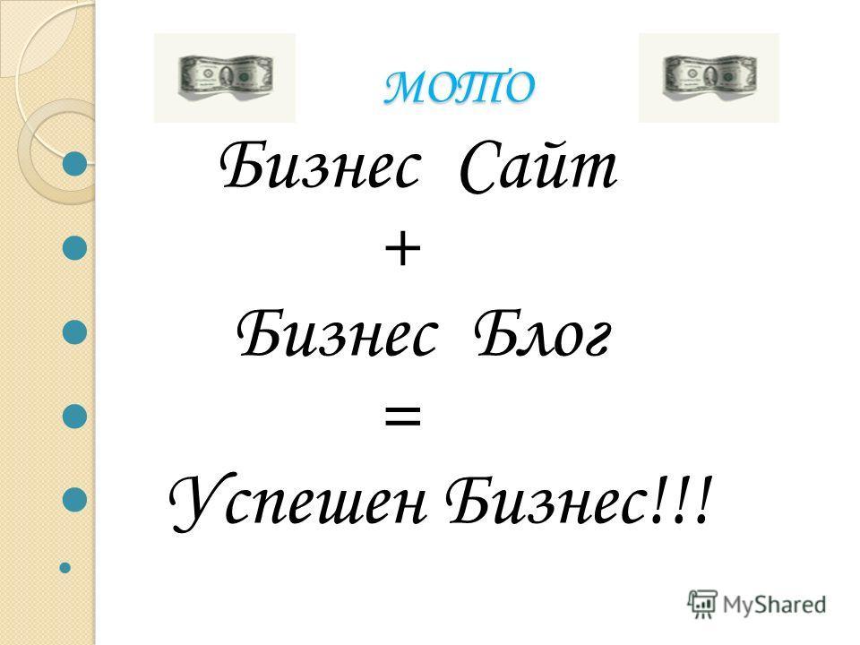 МОТО МОТО Бизнес Сайт + Бизнес Блог = Успешен Бизнес!!!