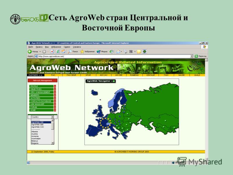 Cеть AgroWeb стран Центральной и Восточной Европы