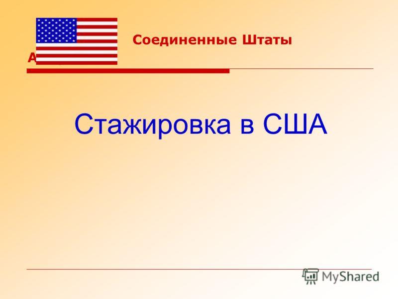 Соединенные Штаты Америки : Стажировка в США