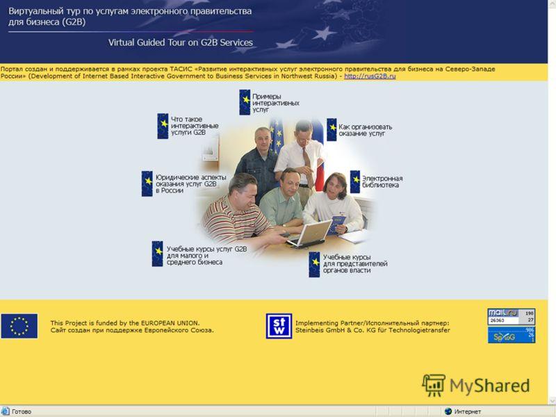 Развитие интерактивных услуг электронного правительства для бизнеса на Северо-Западе России
