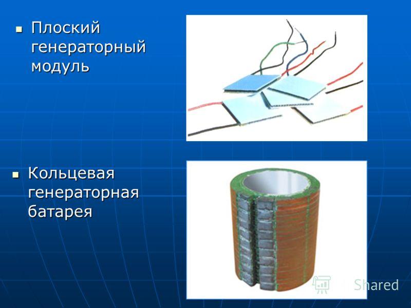 Плоский генераторный модуль Плоский генераторный модуль Кольцевая генераторная батарея Кольцевая генераторная батарея