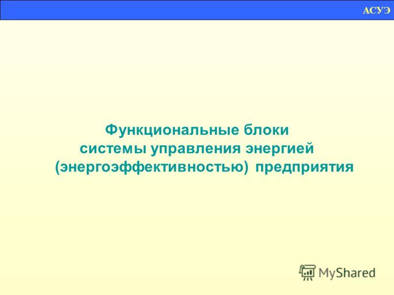 Функциональные блоки системы управления энергией (энергоэффективностью) предприятия АСУЭ