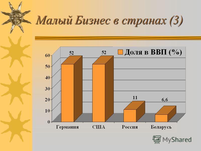 Малый Бизнес в странах (3)
