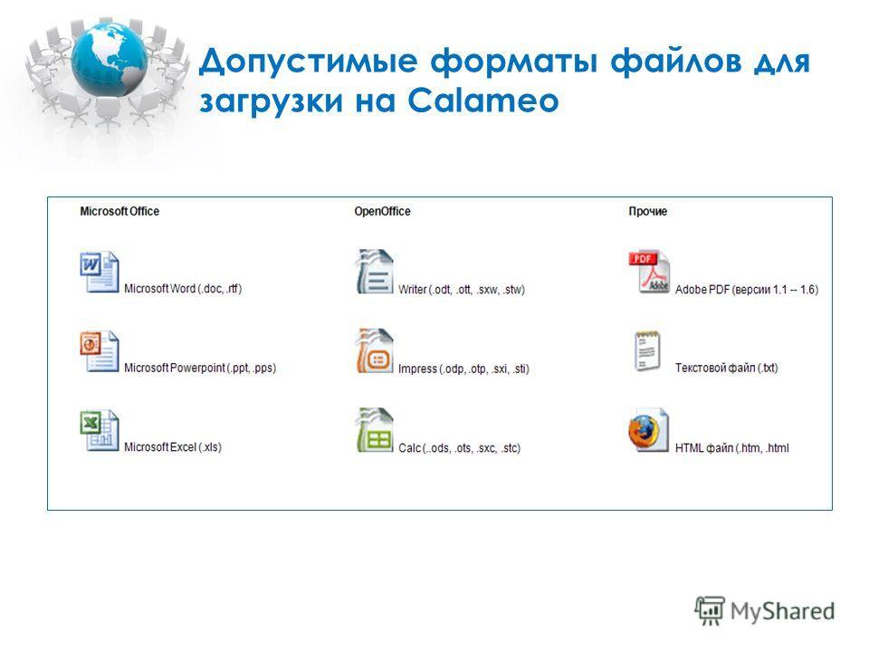 Допустимые форматы файлов для загрузки на Calameo