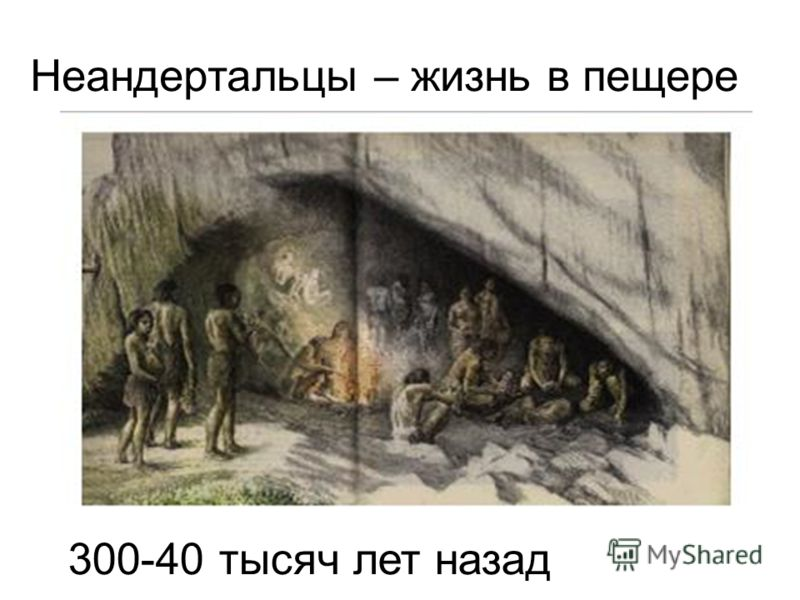 Неандертальцы – жизнь в пещере 300-40 тысяч лет назад